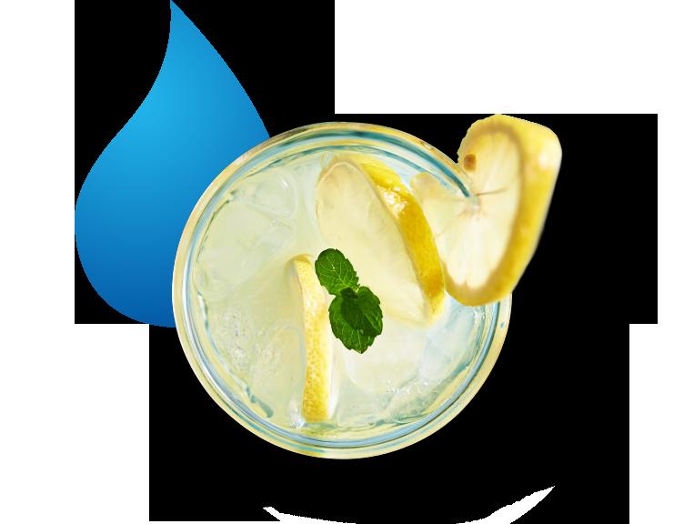 Getränkmit Zitrone und Eis